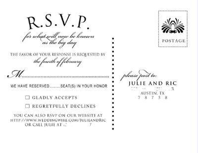 unique rsvp cards | Show me your RSVP card wording | Weddings ...