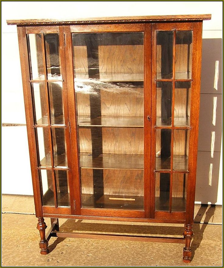 Antique Oak China Cabinet Curved Glass - Home Furniture Design - 76 Best Antique China Cabinets Images On Pinterest Crystals