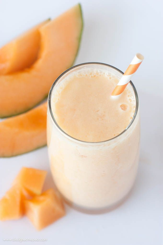 Peach Cantaloupe Smoothie | Ingredients 1 cup cantaloupe 4 slices of frozen peaches ½ cup orange juice 6 oz. light peach yogurt ½ tablespoon honey ½ cup ice