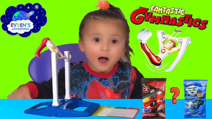 Fantastic Gymnastic Challenge! Family Fun Games for Kids Surprise Toys Disney Cars3 Hotwheels Monster Jam. In order to win this game, you need lots of practices and at the right moment, hit the release button to let him fly, and try to stick the perfect landing. This game is extreme challenge and test your patience. Evren and her daddy had lots of fun in this challenge family board game. The winner gets surprise toys blind bags Disney cars 3 die cast toys and Hot Wheels Monster Jam Truck.