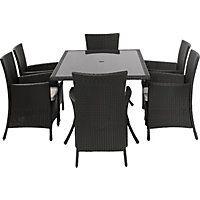 Panama 6 Seater Rattan Garden Furniture Set