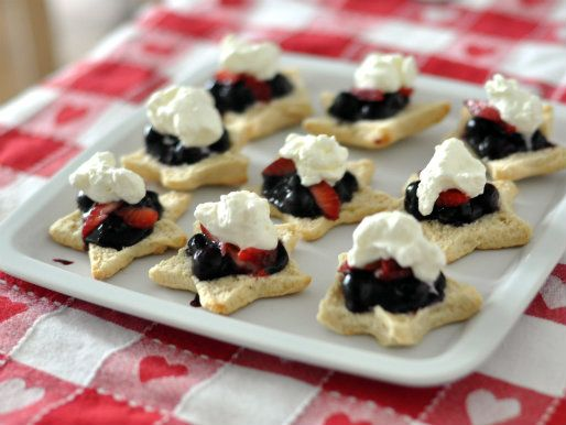 Red, White, and Blueberry Shortcakes #recipe