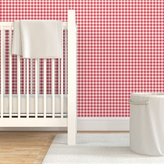 Check Wallpaper Tiny Buffalo Check Gingham Plaid In Red By Sugarfresh Summer Red And White Picnic P In 2020 Plaid Wallpaper Drawer And Shelf Liners Wallpaper Roll