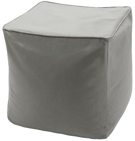 3M Grove Solid 3M Scotchgard Outdoor Pouf - Gray (18x18x18)