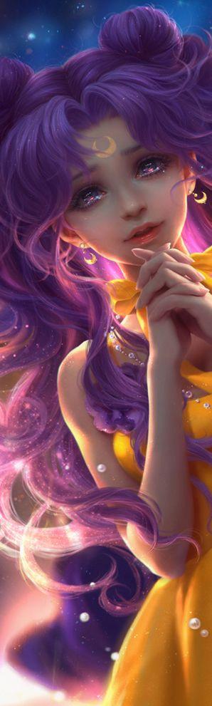 "tsarevnamalvina: "" Sailor Senshi and Luna, by sunmomo """