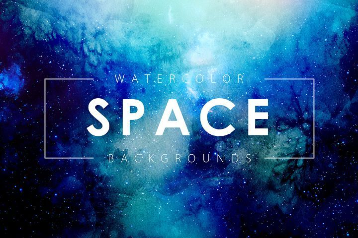 Space Watercolor Backgrounds - Free Design of The Week Design