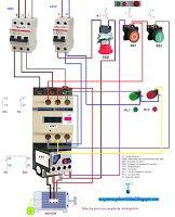 Esquemas eléctricos: Marcha paro con parada de emergencia
