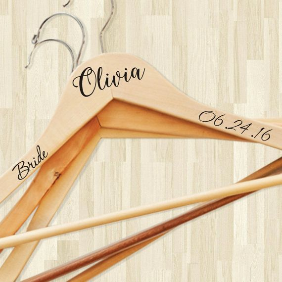 Check out this item in my Etsy shop https://www.etsy.com/uk/listing/268487463/wedding-hanger-decal-personalized