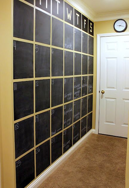 Ideas For Calender Wall Toddler Room