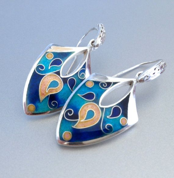 Hey, I found this really awesome Etsy listing at https://www.etsy.com/listing/180541062/earrings-cloisonne-enamel-silver