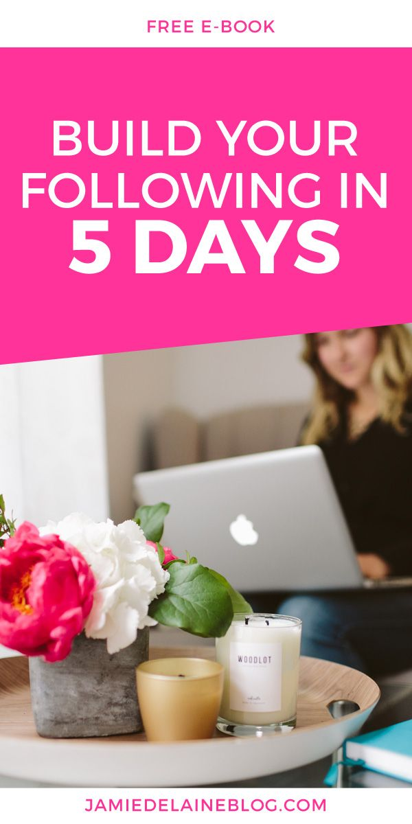 """Free E-Book and Series of Emails: """"5 Days to Build Your Blog Following."""" Download now! http://jamiedelaineblog.com/post/25952/build-your-blog-following-in-5-days/"""