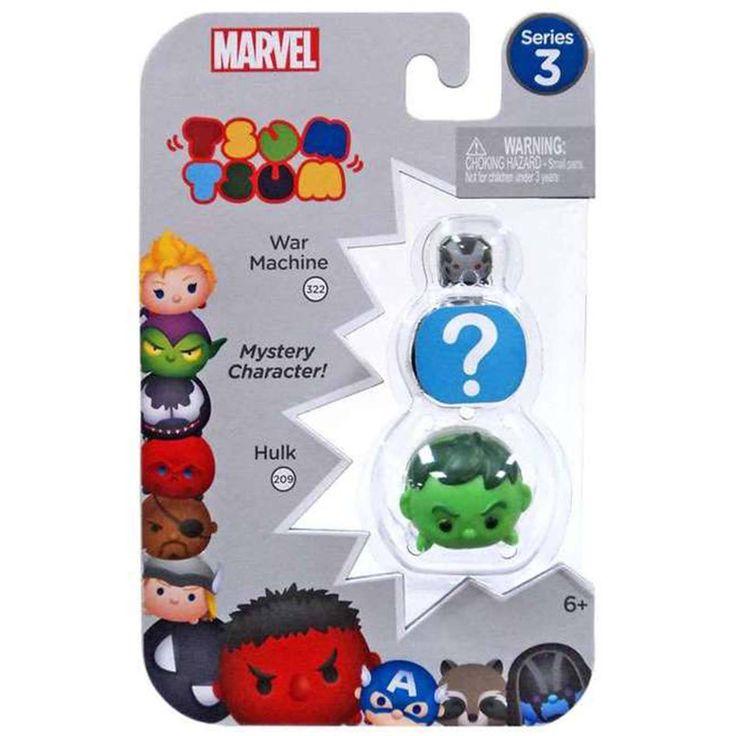 Tsum Tsum Marvel Series 3 War Machine Mystery Hulk 3 Figure Set