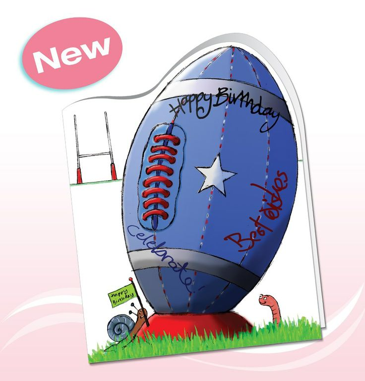 1000 images about Rugby cards – Rugby Birthday Cards