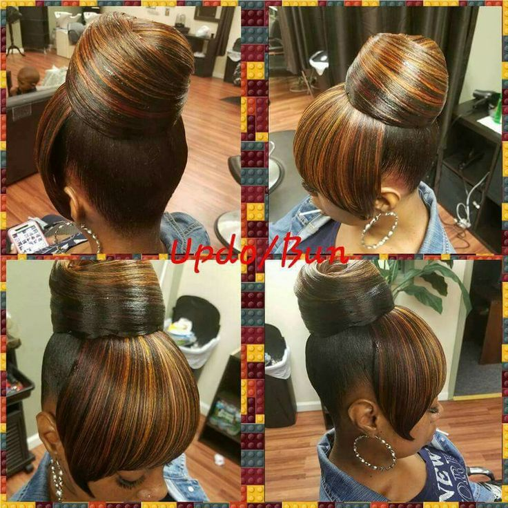 Weave ponytail with bang