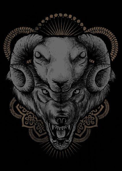 lobo em pele de cordeiro em Behance