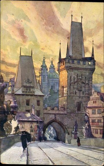 Praha Prag Karlsbrücke / Setelik Jaroslav
