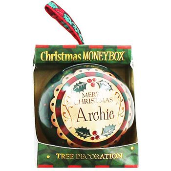 Personalised Money Box Bauble - Archie | Money Boxes at The Works
