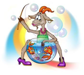Знак зодиака  Рыбы. Автор картинки Наталья Логванова.