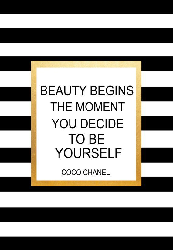coco chanel quote beauty begins the moment you by. Black Bedroom Furniture Sets. Home Design Ideas