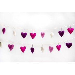 Felt Heart Garland - Fairy Floss