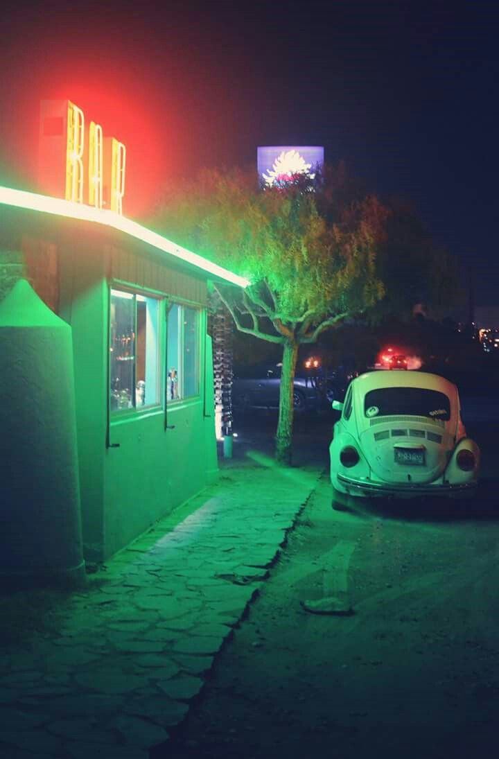Neon lights in the night