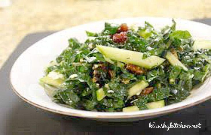 Kale Salad with Pear-Thyme Vinaigrette - bluesky kitchen