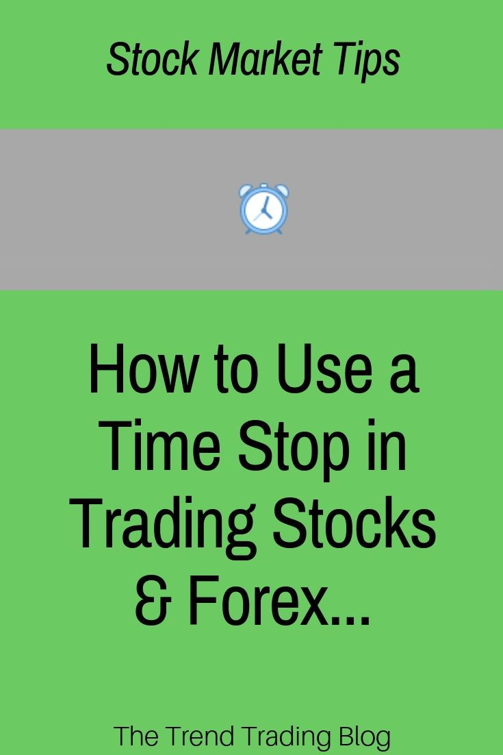 In This Article Discover How To Use A Time Stop In Stocks Forex