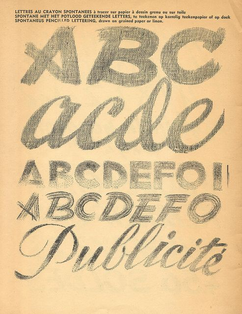 100 alphabets publicitaires (1946) via pilllpat (agence eureka), via Flickr