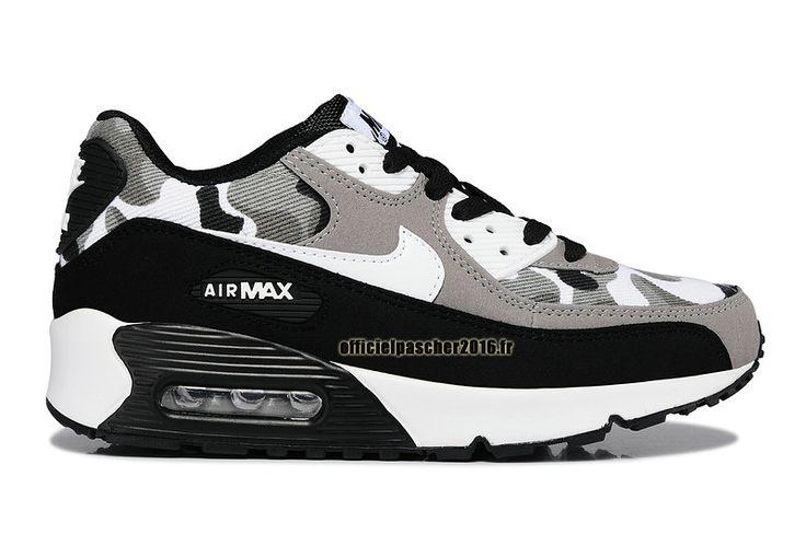 Officiel Nike Air Max 90 SJX Chaussures Nike Sportswear Pas Cher Pour Femme Noir - Blanc - Gris