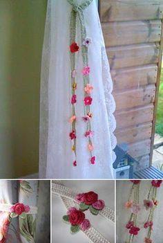 Crochet Curtain Tie Backs: FREE pattern