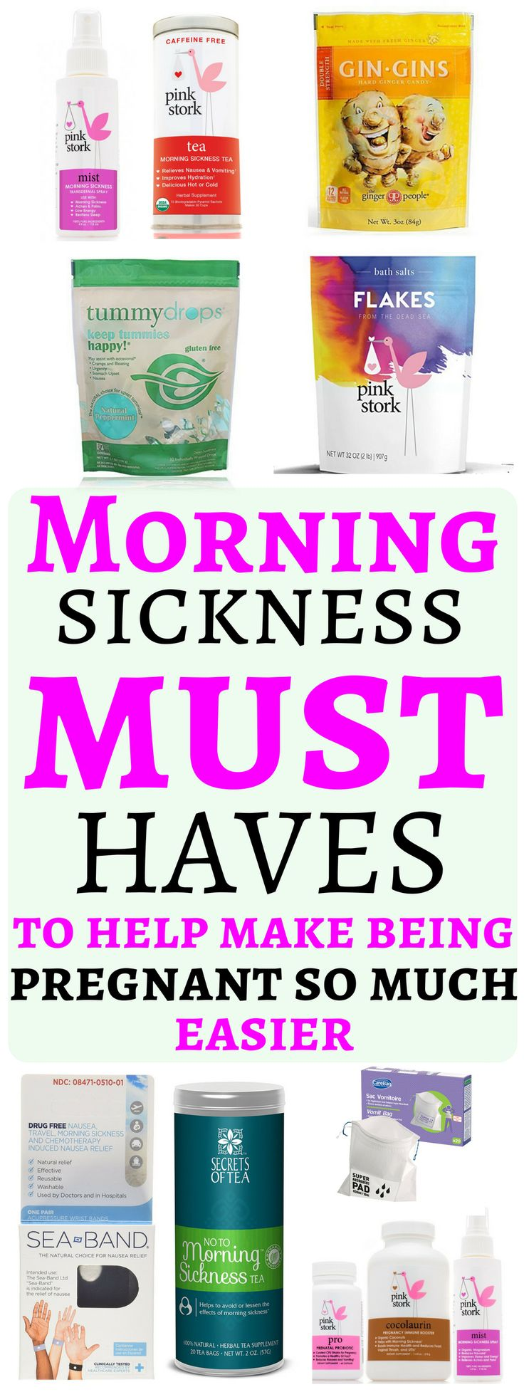 The greatest Morning sickness must haves that provide amazing relief to help make being pregnant so much easier. In this article you will fine an amazing selection of twelve Morning sickness must haves, that has helped pregnant women with morning sickness that range from mild, occasional, severe, ongoing and disabling nausea with vomiting. Morning sickness must haves to help make being pregnant so much easier #morningsickness #pregnancy #pregnant #pregnantlife #postpartum