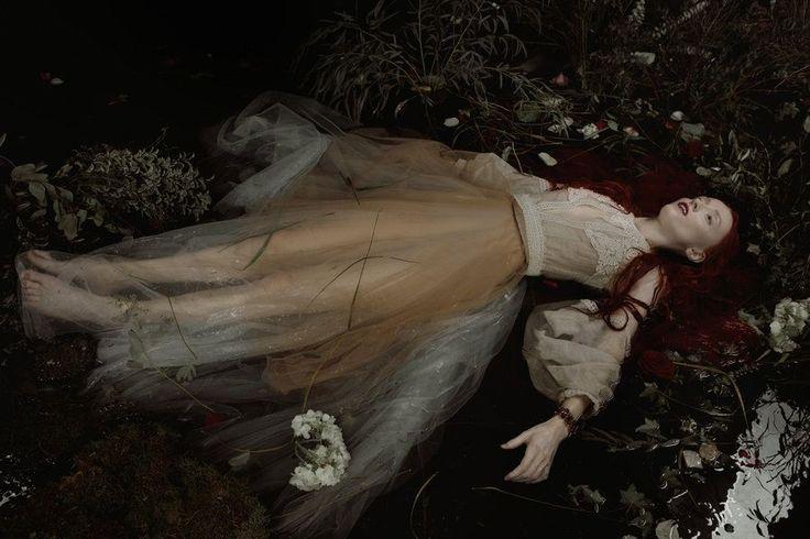 """black water"" by Ekaterina Belinskaya aka Avine on @DeviantArt / Model: Russian actress Olga Makeeva"