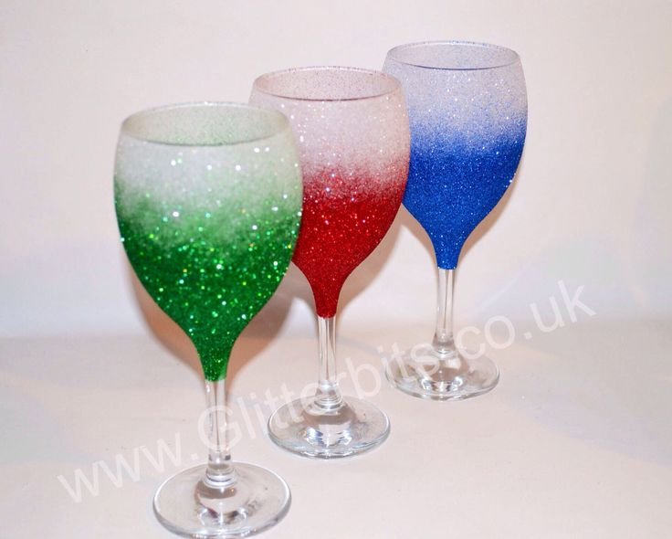 Two Tone Wine Glitter Gles White And Green Red Blue