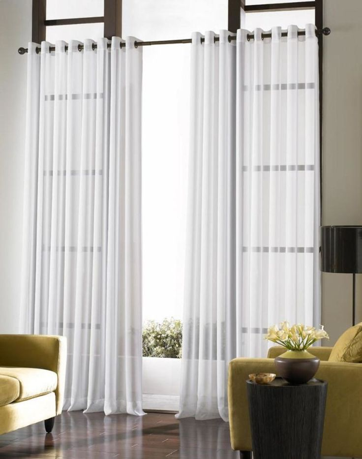 Contemporary Curtains Ideas For Large Window Living Room