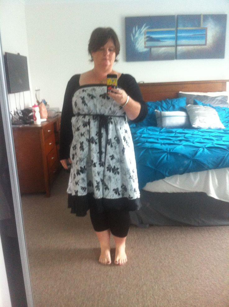 Another dress but in different pattern and hemline