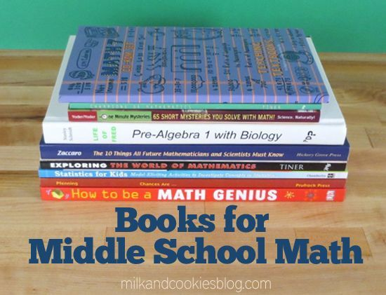 A list of great math books for middle school.  We've used some of them and are going to look for other ones.