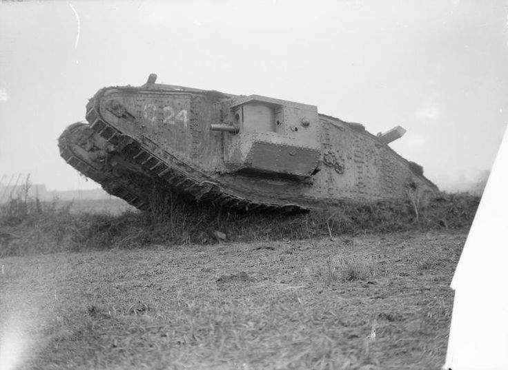 "MINISTRY INFORMATION FIRST WORLD WAR OFFICIAL COLLECTION (Q 2846)   British Tank at Elverdinghe, 11 September 1917. ""C"" Battalion."