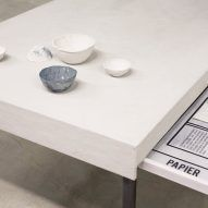Nienke Hoogvliet turns used toilet paper into bowls and tables