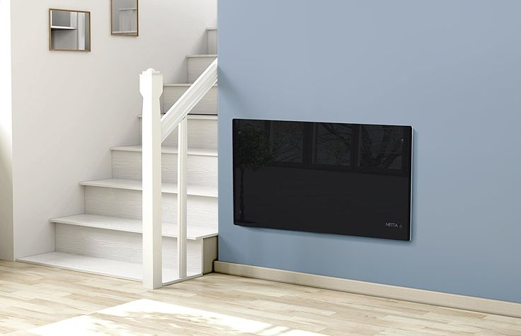Netta 2000W Slimline Glass Panel Heater Radiator with Thermostat - Black: Amazon.co.uk: Kitchen & Home