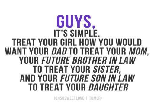 this is more what i think guys should live by...