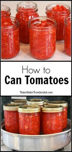 How to Can Tomatoes--tutorial from http://TastesBetterFromScratch.com