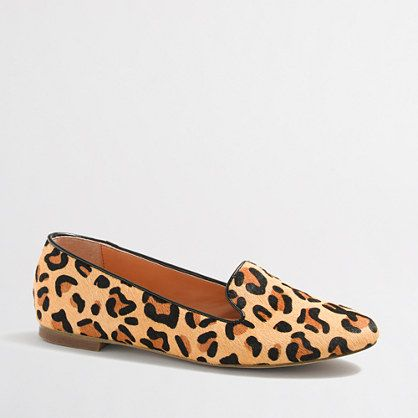 Cora leopard calf hair loafers - J.Crew factory