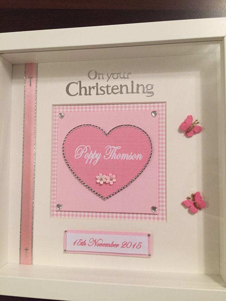 Handmade christening frame