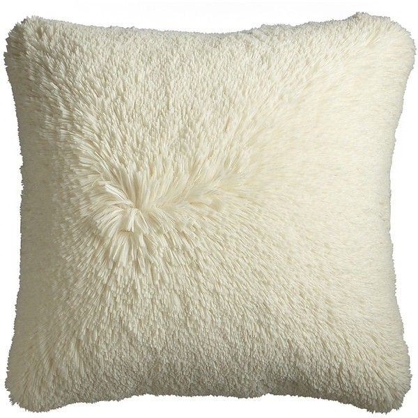 Pier One Oversized Fuzzy Pillow 50 Liked On Polyvore