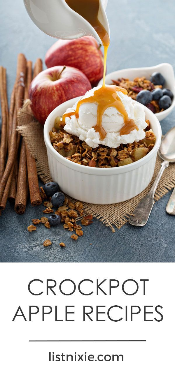 11 tasty apple recipes you can make in your slow cooker - If you've been longing for homemade apple butter, applesauce, or apple crisp, but you don't have the time to make them from scratch--take heart! With the help of your slow cooker, you can let apples simmer to perfection all day (or overnight, for an awesome breakfast like Apple Cinnamon French Toast Casserole).   listnixie.com