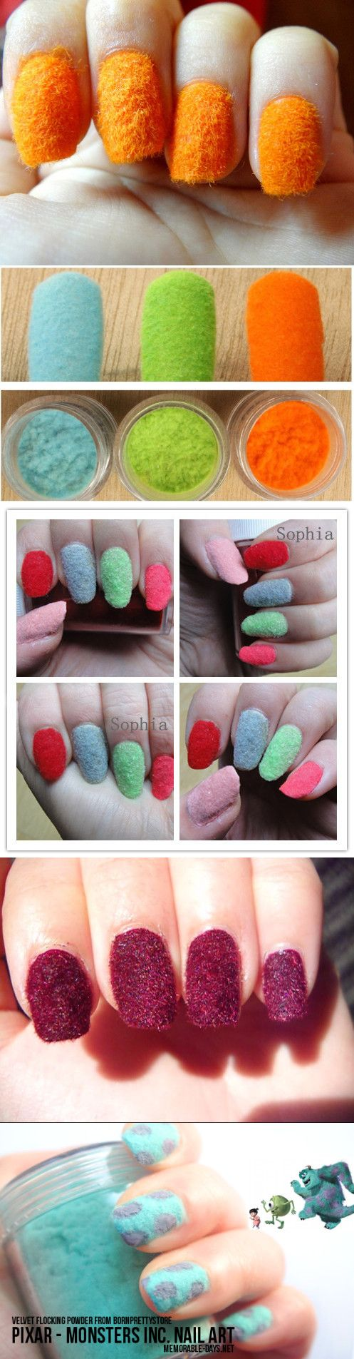 $2.99 1pc Fun Flocking Velvet Powder Manicure Nail Art Nail Polish- 14 colors - BornPrettyStore.com