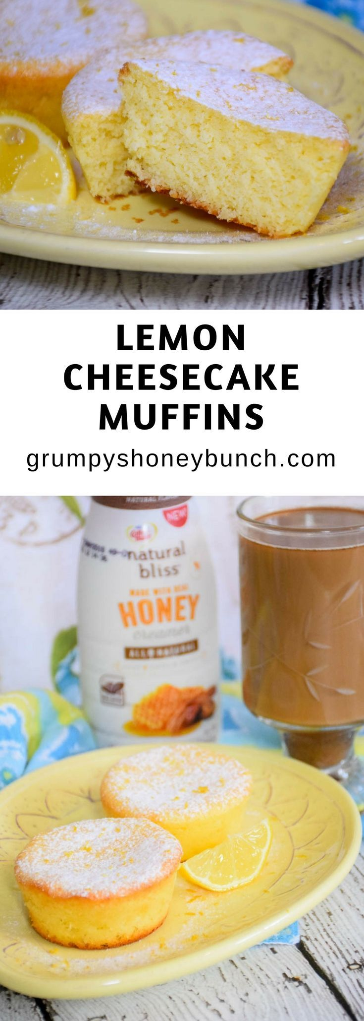 Lemon Cheesecake Muffins have that bright lemon flavor, are finely textured and lightweight, and completely delicious! Perfect with just a sprinkling of powdered sugar on top,  these muffins make the perfect accompanyment to celebrate spring's moments along with your hot cup of coffee and Coffee-mate®️️ natural bliss®️️ Honey creamer! #ad #FlavorYourSpring https://ooh.li/4e8df56