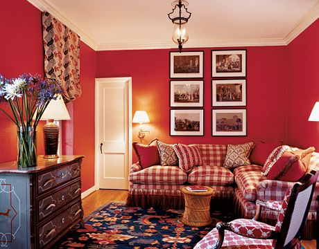 Best 25 red family rooms ideas on pinterest vaulted for Best warm places to live with a family