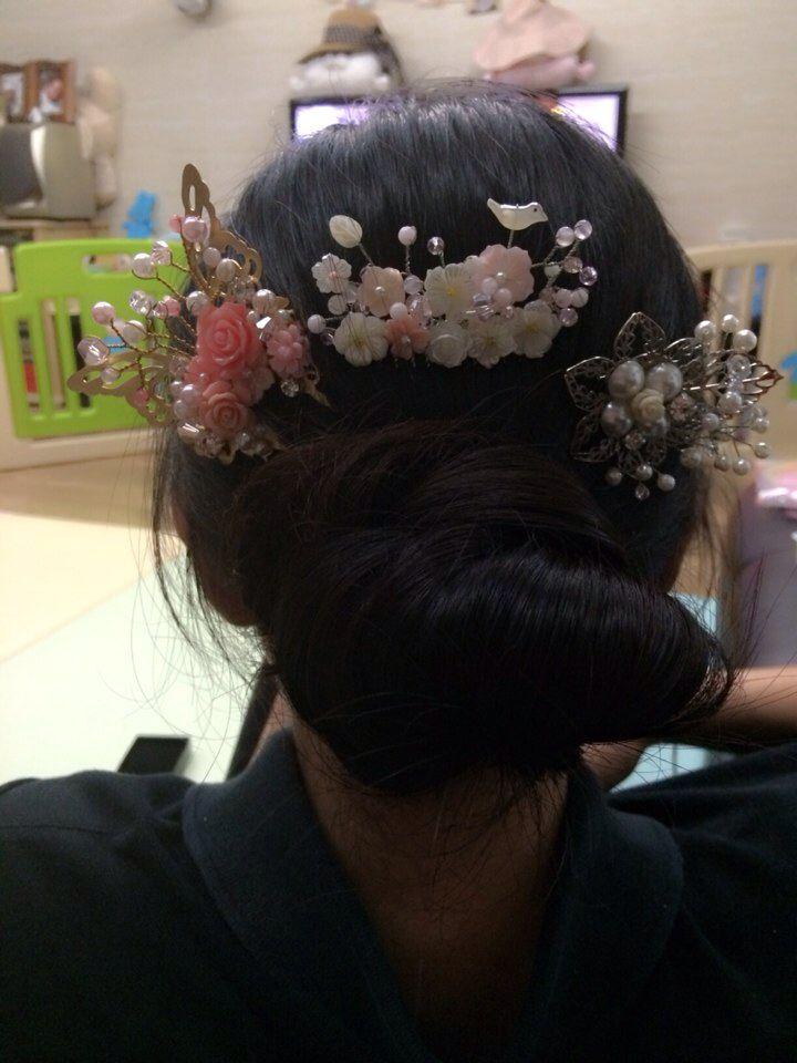 한복에 머리장식은 화려할 수록 아름답다  http://blog.naver.com/invisibleimp/ Kakao talk : invisibleimp Mobile phone : +082-9646-4118  choi yoon ha (designer)