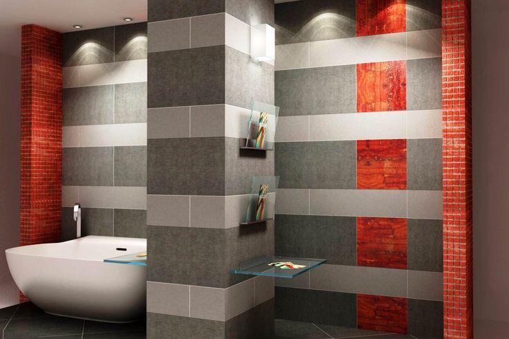 Mooi rode tegels en mozaieken in Wave Living Laqué